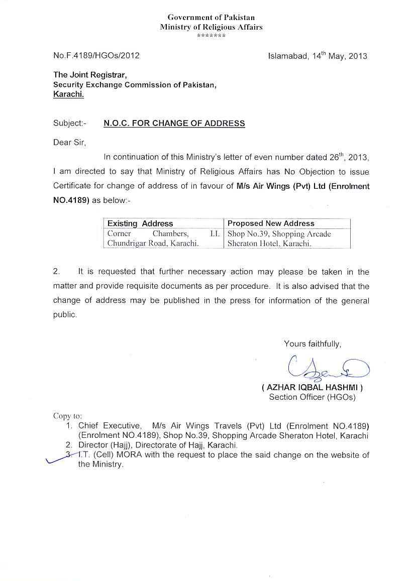 Doc768994 Letter for No Objection Sample No Objection Letter – No Objection Letter Format for Employer